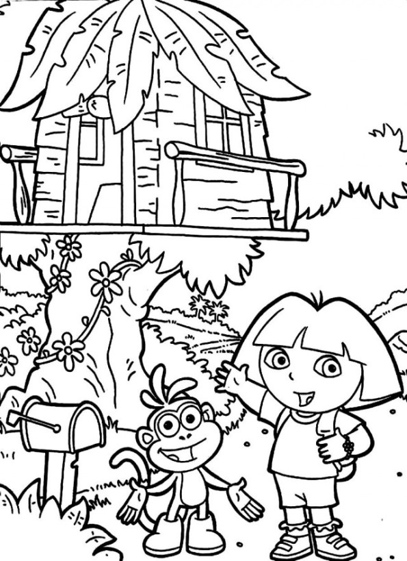 n 11 coloring pages of treehouse