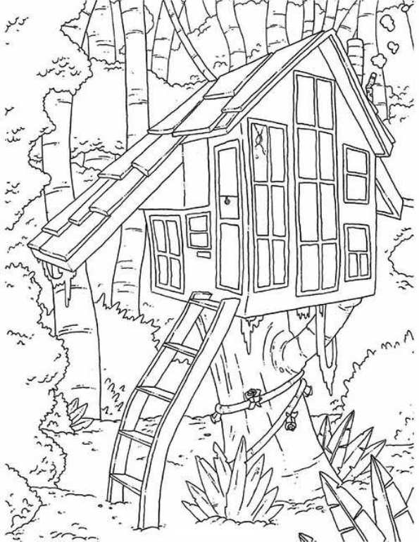Kidsnfuncom  11 coloring pages of Treehouse