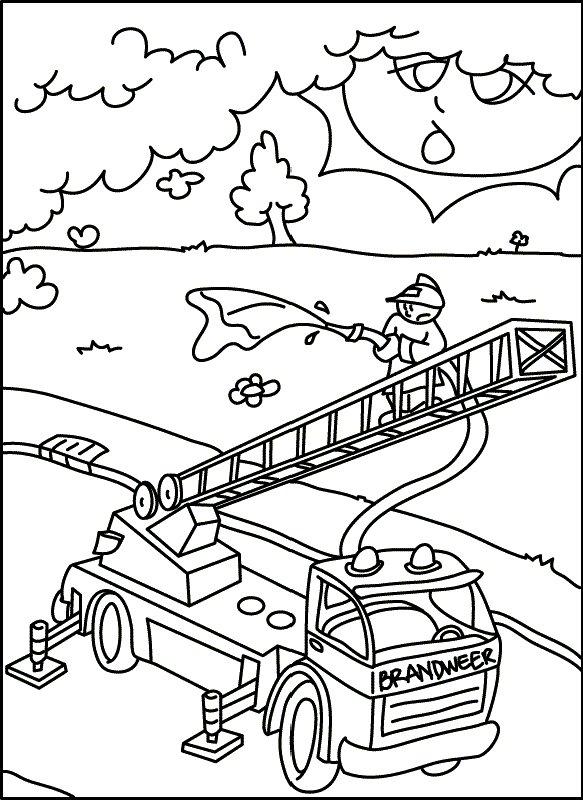 Coloring Pages Kids N Fun : Kids n fun coloring page fire brigade