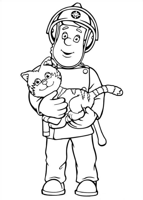 Kidsnfun 38 coloring pages of Fireman Sam