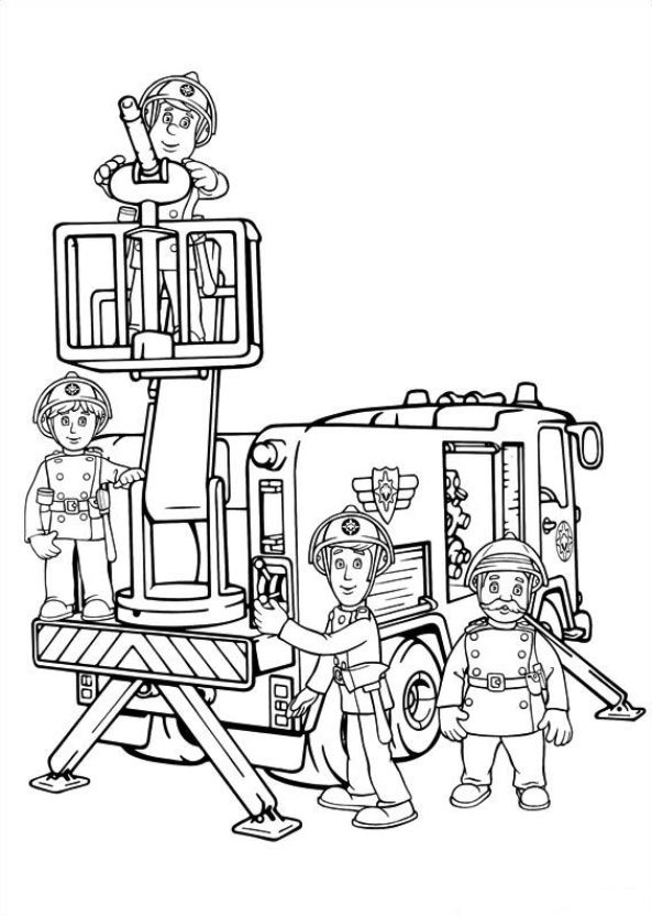 fireman sam - Firefighter Coloring Book
