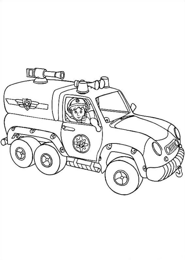 Kids n funcom 38 coloring pages of Fireman Sam
