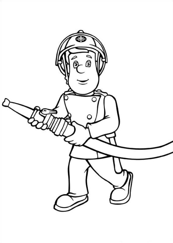 38 fireman sam coloring pages - Fireman Coloring Pages