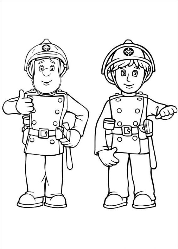 fireman sam - Fireman Coloring Pages