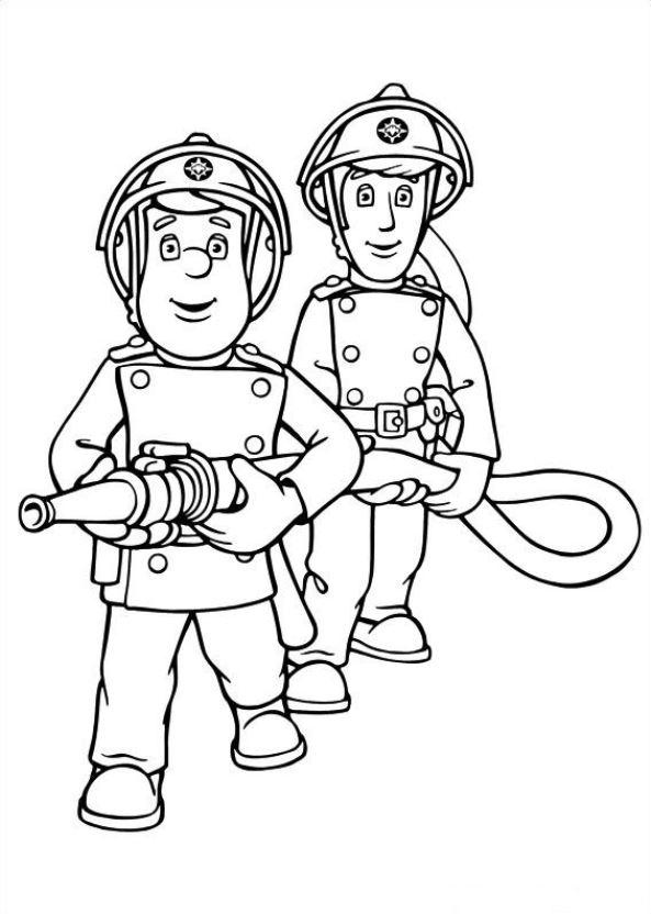 Gratis Kleurplaten Fireman Sam.Fireman Sam Coloring Pages For Kids Printable Free