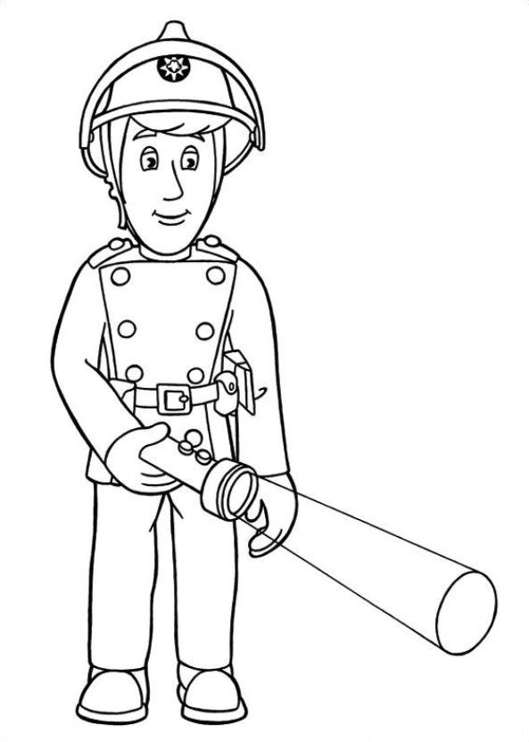 Kidsnfuncouk  38 coloring pages of Fireman Sam