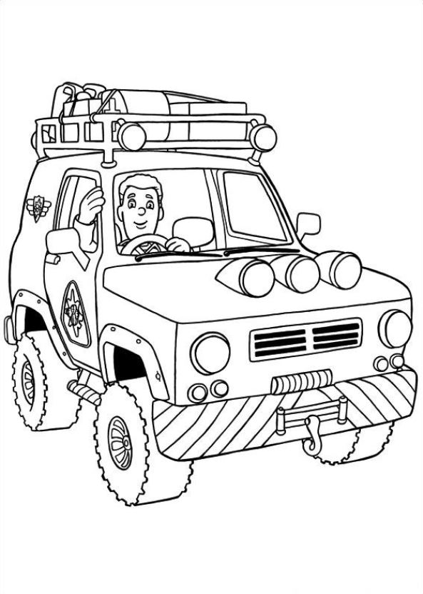 coloring book pages fireman - photo#23