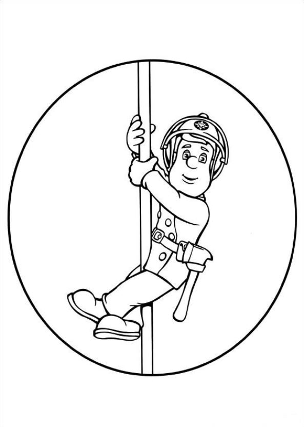 Kids n funcouk 38 coloring pages of Fireman Sam