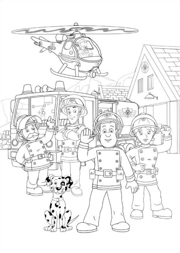 n 38 coloring pages of fireman sam