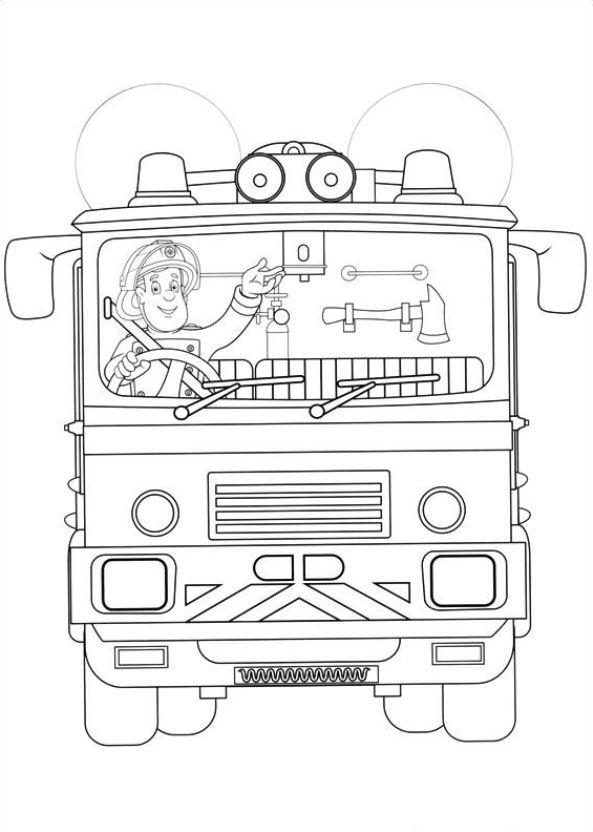 Kids n fun.| 38 coloring pages of Fireman Sam