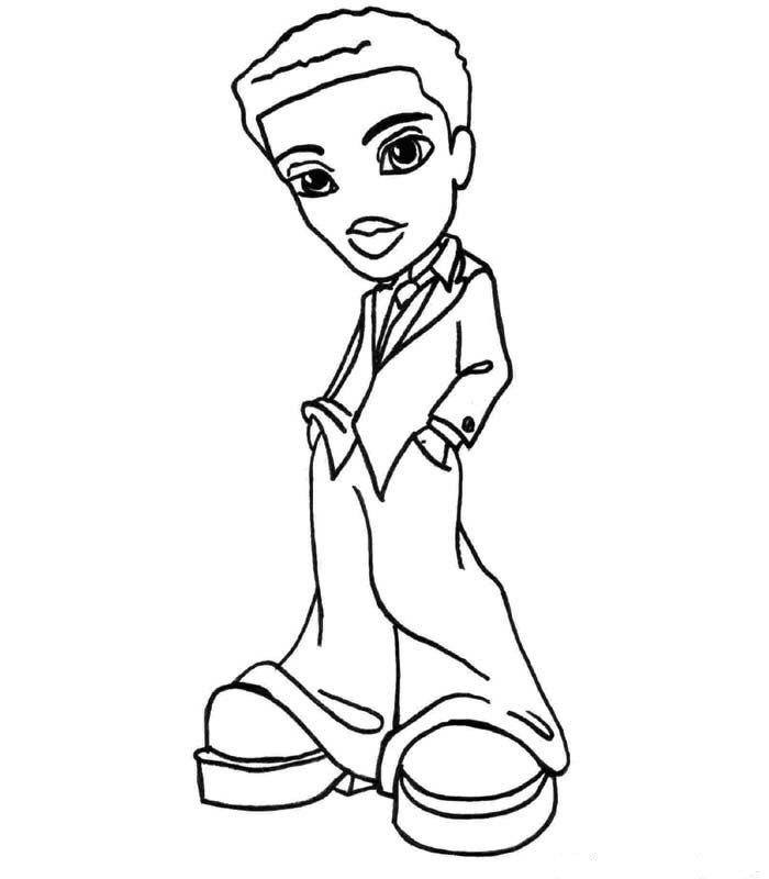 bratz boyz 12 coloring pages