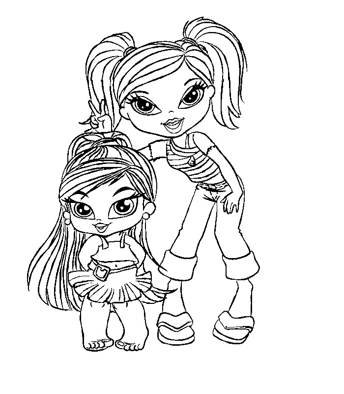 bratz kidz 6 coloring pages