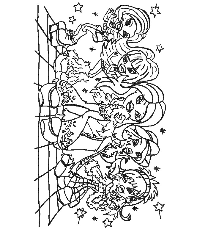 Kids-n-fun.co.uk | 51 coloring pages of Bratz