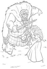 coloring page Fergus and Merida