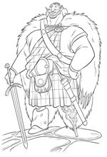 coloring page King Fergus