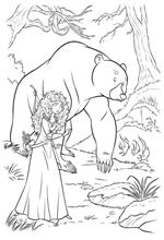 coloring page Merida Bear 2