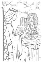coloring page Merida and Mother