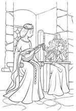 coloring page Merida and her mother