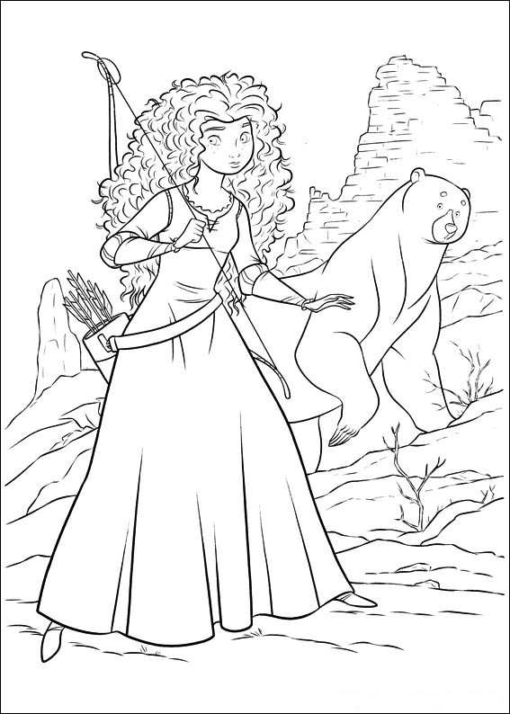Kids-n-fun.com | 83 coloring pages of Brave