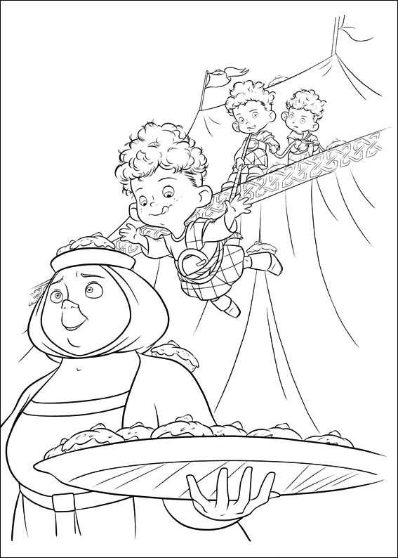 Frozen Anna Kleurplaat Kids N Fun Com 83 Coloring Pages Of Brave