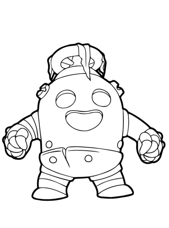 20 best pictures brawl stars spike coloring pages - spike
