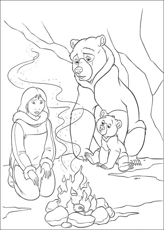 58 brother bear 2 coloring pages - Brother Bear Moose Coloring Pages