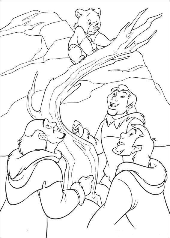 brother bear 2 coloring pages - photo#19