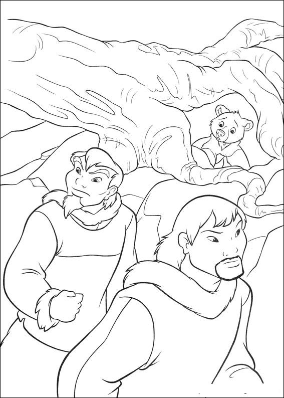brother bear 2 coloring pages - photo#2