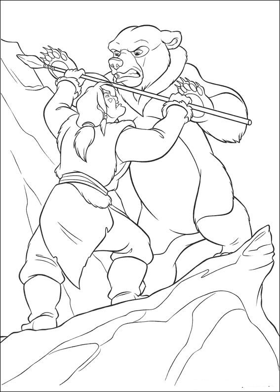 brother bear 2 coloring pages - photo#30