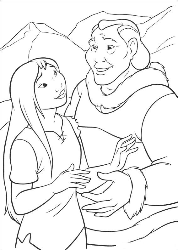 brother bear 2 coloring pages - photo#38