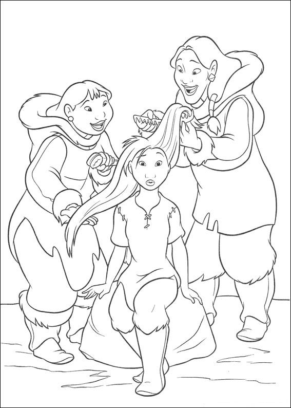 brother bear 2 coloring pages - photo#21