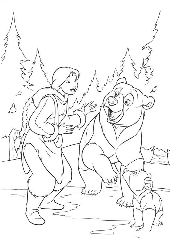 brother bear 2 coloring pages - photo#10