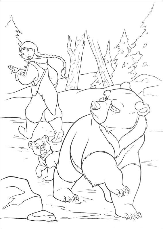 kids n funcom 58 coloring pages of brother bear 2