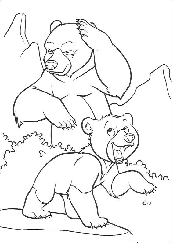 kids n funcom 52 coloring pages of brother bear