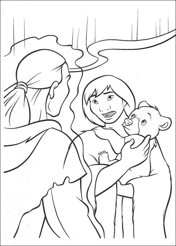 brother bear 2 coloring pages - photo#27