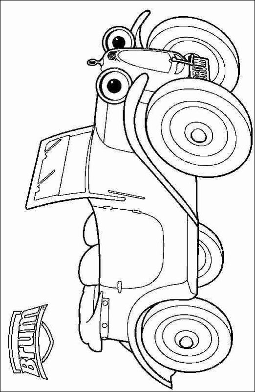 Kids N Fun Com 4 Coloring Pages Of Brum