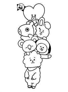 Kids-n-fun.com | 17 coloring pages of BT21
