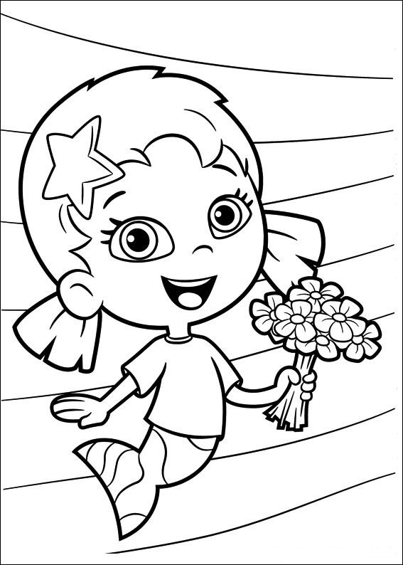 Kidsnfuncom 25 coloring pages of Bubble Guppies
