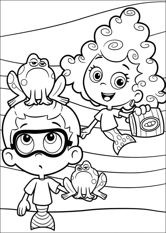 kids n funcom 25 coloring pages of bubble guppies