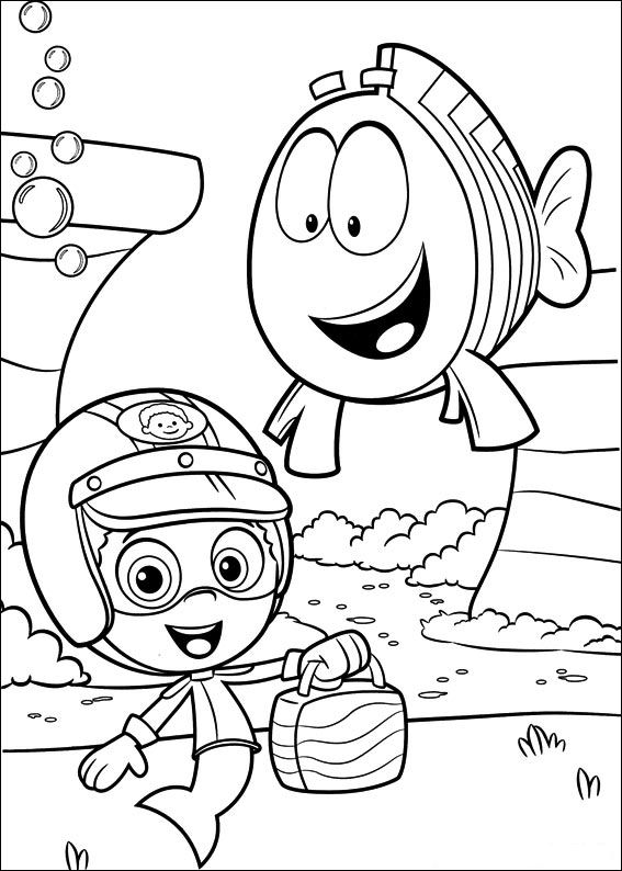 Kids-n-fun.com | 25 coloring pages of Bubble Guppies