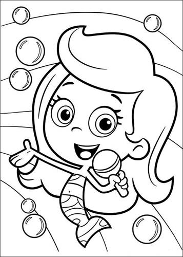 Kids N Fun Com 25 Coloring Pages Of Bubble Guppies