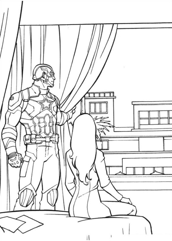 Kids-n-fun.co.uk | Coloring page Captain America Civil War ...