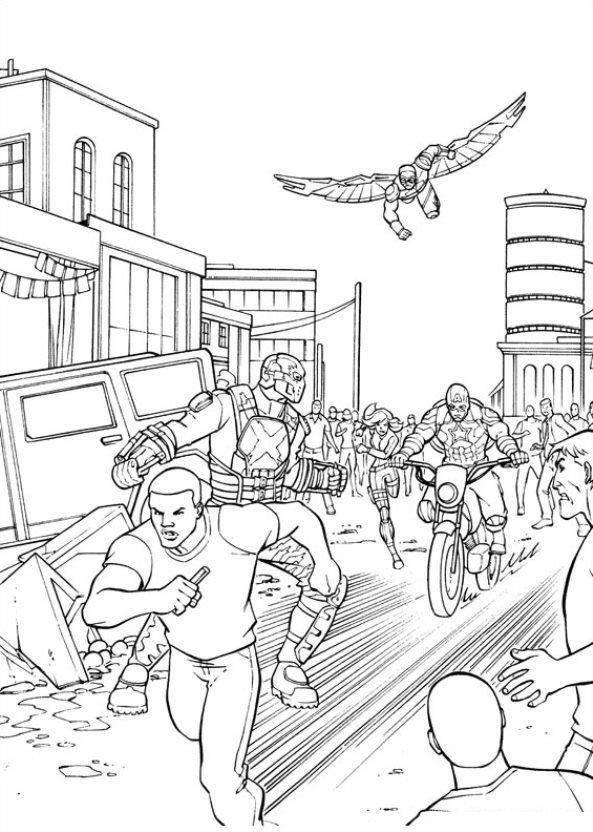 Kids-n-fun.com | 16 coloring pages of Captain America Civil War