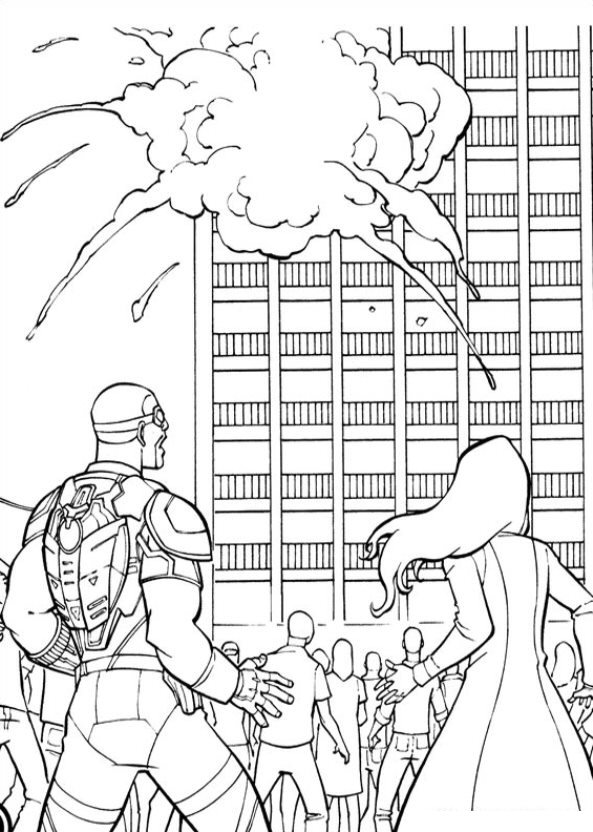 Kids-n-fun.com | Coloring page Captain America Civil War ...
