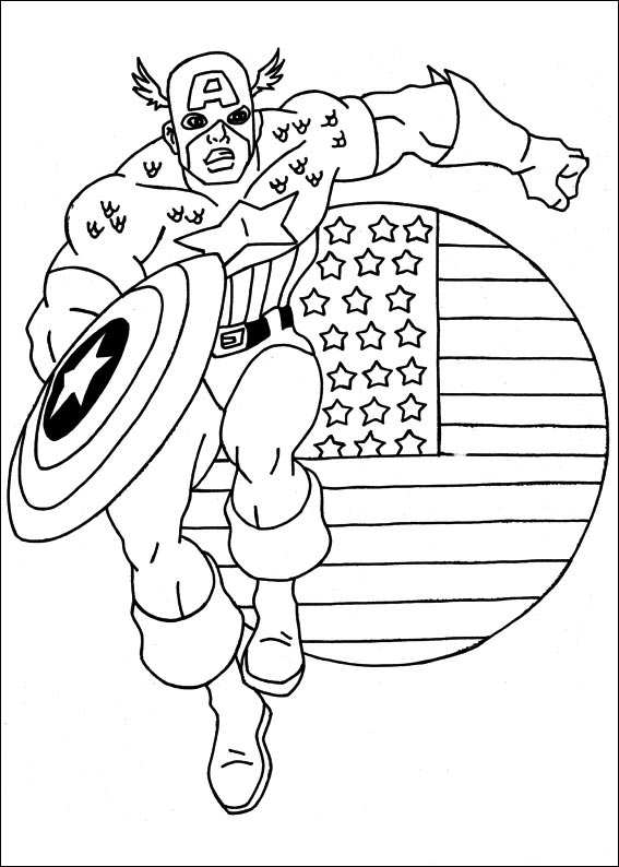 Kids n funcom 22 coloring pages of Captain America