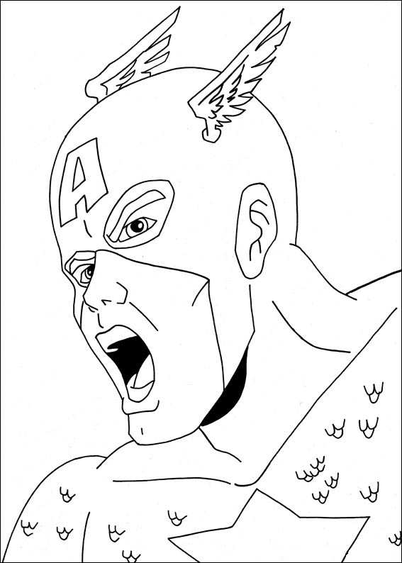 22 captain america coloring pages - Captain America Pictures To Color