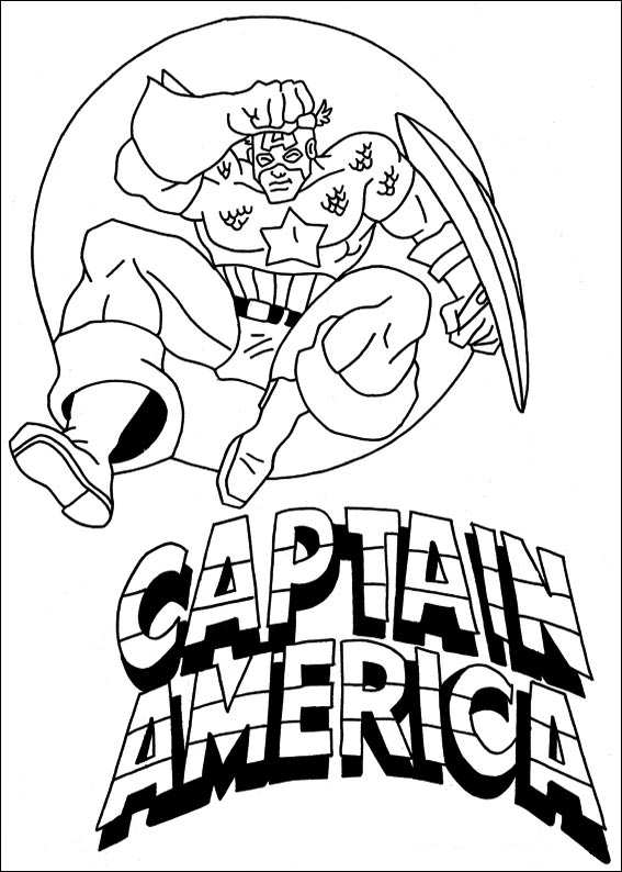 Kids n funcouk 22 coloring pages of Captain America