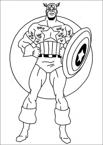 n 22 coloring pages of captain america