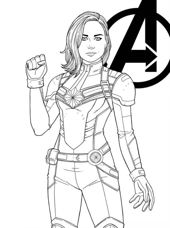 Kids N Fun Com Coloring Page Captain Marvel Captain Marvel