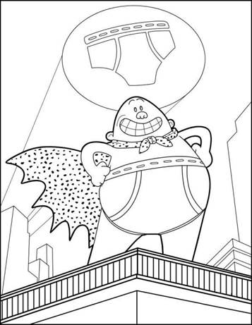 Kids N Fun Com 8 Coloring Pages Of Captain Underpants